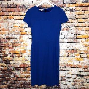 Narciso Rodriguez Short Sleeve Midi Dress Back Zip